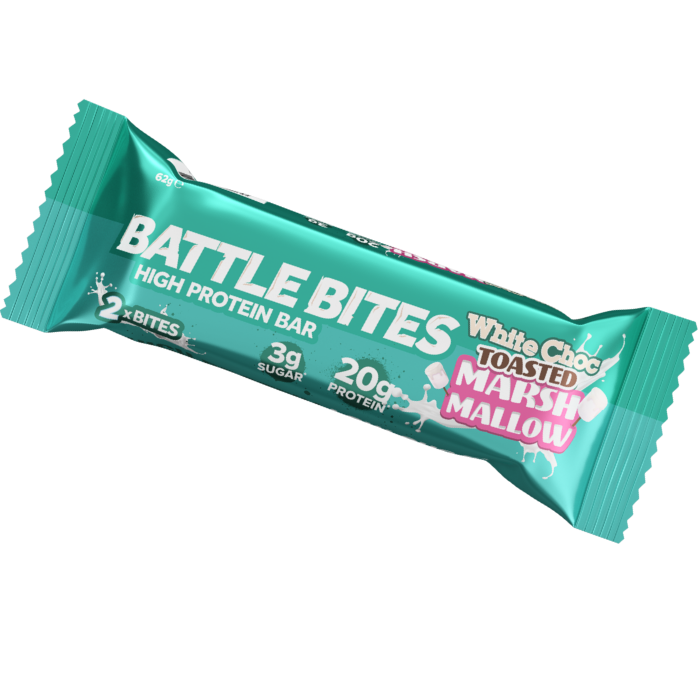 Battle Bites – White Choc Toasted Marshmallow